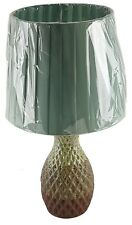 """Ceramic 16"""" Table Lamp with Shade 3 Tone Concave Finish Night Stand Counter U/L"""