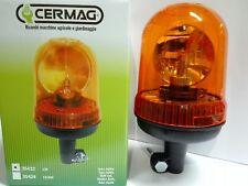 GIROFARO Lampeggiante per trattore 12V base ad asta Lampada alogena Omologato