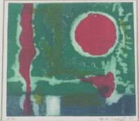 Vintage 1979 Untitled Abstract Artist Print Lithograph by M.K. Sadid Listed?