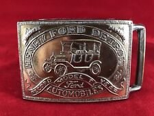 Henry Ford Detroit Ford Automobiles Brass Belt Buckle