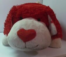 """Puppy Dog Pillow Red White My Pillow Pets 21"""" stuffed animal toy boys girls"""