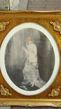"LOUIS ICART LITHOGRAPH PRINT ""BEDTIME"" ,PLATE SIGNED IN  CUSTOM ORNATE FRAME"