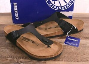Birkenstock Gizeh Birko-Flor Sandals Thongs 10 Med 41 Shoes Black 0043691 NEW