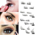 2 Pairs Makeup 3D Magnetic Eyelashes Reusable False Magnet Eye Lashes Extensions