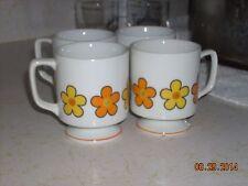 Vintage Set of 4 Buttercup Japan Coffee Tea Cider Cups Mugs