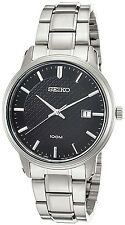 SEIKO SUR195P1 Date Black Dial WR 100m Men's Analogue Watch 2 Yr Guar  RRP £199.