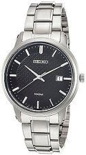 Seiko SUR195P1 Fecha Dial Negro Reloj Análogo Wr 100m para hombre 2 años Guar RRP £ 199.
