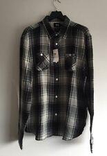 Stüssy big mac carreaux coton-chemise en flanelle taille l rrp £ 80