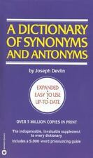 A Dictionary of Synonyms and Antonyms
