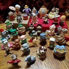 Hallmark Merry Miniatures Lot Leprechauns, Carolers, Cinderella, Valentine