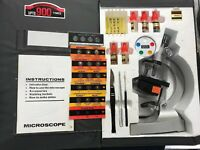 Vintage Ideal Student Microscope Kit 50X-900X With Case & 7 Sample Slides