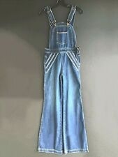New Free People Chasing Rainbows Dark Blue Demin Size 6 Overalls Retail $148.00