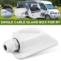 Roof Top Single Cable Entry Gland Box Solar Panel Motorhome Caravan Van Camper