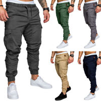 EE_ MEN CASUAL GYM TRACKSUIT BOTTOMS PLAIN JOGGING TROUSERS JOGGERS SWEAT PANTS