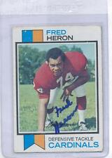 Fred Heron 1973 Topps #44 Autographed Football Card St Louis Cardinals DECEASED