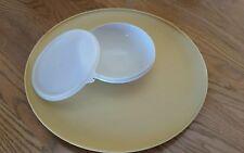 "Vintage Tupperware ""Dip N Serve"" Chip/Dip Platter w/Bowl attached - 14"""