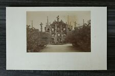 Foto a Karton Isola Bella 1880-1900 Garten Brunnen Einhorn Italien Lago Maggiore