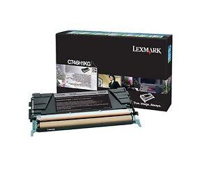Lexmark Toner C746H3KG, C746H6KG, schwarz, C746 / C748