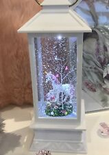 ~❤️~UNICORN mum and baby White Lantern LED Night Light Snow Globe~❤️~