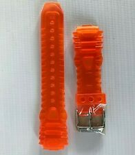 TECHNOMARINE Orange Silicone Replacement Watch Strap/Band/Bracelet - 17mm - New