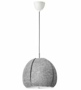 IKEA VINTERGATA Pendant Lamp Textile Shade 42cm Grey Modern Elegant Design