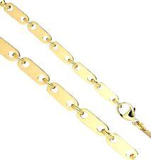 5 mm breite Plattenkette 585er echt Gold Gelbgold Goldkette 14 Karat 50 cm 34g
