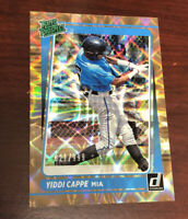 2021 Donruss Yiddi Cappe Rated Prospect Card #'d 621/999 Miami Marlins