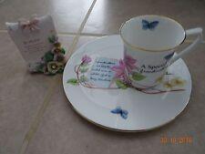 Grandmother mug + plate set hand decorated stafford china + free scroll