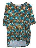 Lularoe Irma Size Small Tunic Multicolor High Low Shirt S Geometric Print
