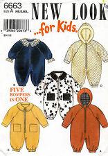 1980's VTG New Look Toddler's Romper Pattern 6663 Size NB-L UNCUT