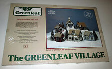"6 Wooden Buildings Kit ""The Greenleaf Village"" *Self Assembly* #8016 1983 New"