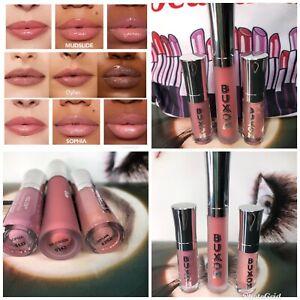 NIB BUXOM ~ MUDSLIDE SOPHIA & DYLAN~ full-on Lip Polish Plumper Gloss + BAG