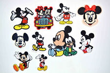 10PCS Vintage Mickey Mouse Iron On Patch Embroidered Applique Clothing Badge New