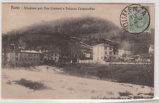 CARTOLINA 1904 RUNO STRADONE PER DUE CASSANI E PALAZZO COOPERATIVO RIF. 15752