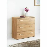3 Drawer Chest - W74 x D36 x H70cm Bedside Chest of Drawers
