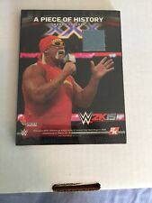 WWE 2K15 Hulkamania Edition, Hulk Hogan A Piece Of History Ring Canvas Plaque!!!