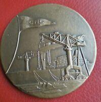 """Médaille de table ville la Ciotat 1969 par R.B.Baron """"La grande Forme"""""""