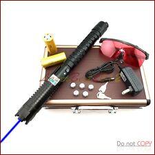 BX7 450nm BURNIN Blue Laser Pointer 3 Switch Modes & 2 X 26650 Li Batteries