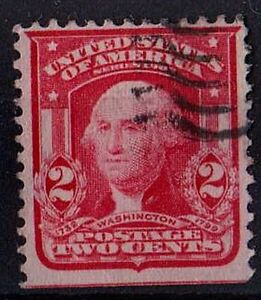 US 1903 Scott #301 George Washington first President 2 Cents Carmine STAMP
