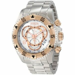 Invicta Men's 1880 Excursion S1 Chronograph Silver Dial Stainless Steel Watch