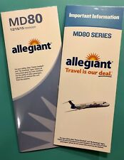 2 ALLEGIANT AIRLINES MD-80 SAFETY CARDS