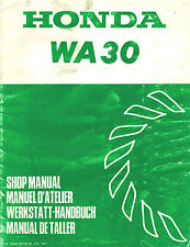 HONDA WA30 WATER  PUMP  SHOP  MANUAL