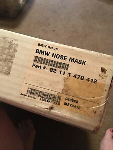 Genuine BMW 2 Piece Upper & Lower Nose Mask Part # 82 11 1 470 412  1999 323i