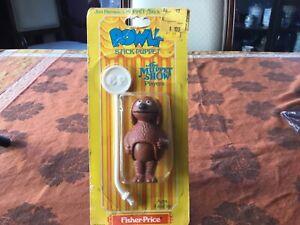 Vintage 1979 Jim Henson's MUPPET Stick Puppet ROWLF Fisher Price MOC Figure
