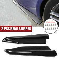 2x 52cm Carbon Look Universal Car Rear Bumper Lip Splitters Side Aprons Valance