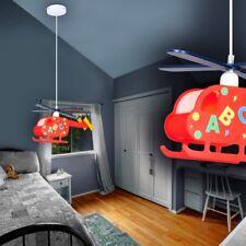 Hubschrauber Lampe Kinder Spiel Zimmer Jungen Hänge Leuchte Pendel Rot
