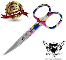 STAINLESS STEEL FINGER  TOE NAIL SCISSORS CURVED MANICURE CUTICLE SCISSORS