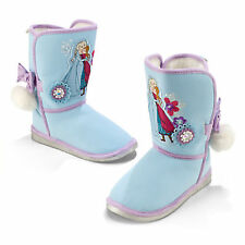 Disney Store  Frozen Anna and Elsa Boots  Blue  Size 7 8 9 10 11 12 13