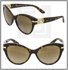 VERSACE Greek key Cat Eye VE4283B Brown Havana Gold Sunglasses 4283