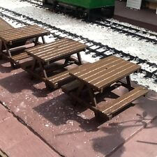 Picnic Benches for Garden Railway 16mm Scale SM32 G45 Narrow Gauge Kit